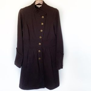 CAbi Pea Coat Black Size Medium